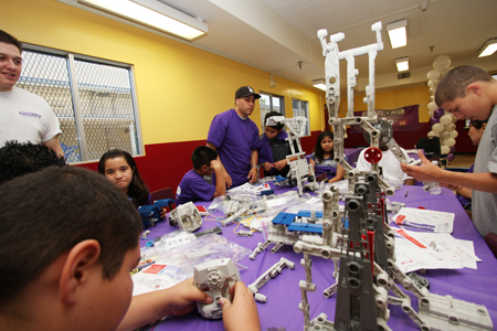 "On Monday at Hollenbeck Middle School, students got to experience the ""fun"" part of science, technology, engineering and math during the launch of the STEM-Up pilot program in Boyle Heights. (Penaphotography.com)"