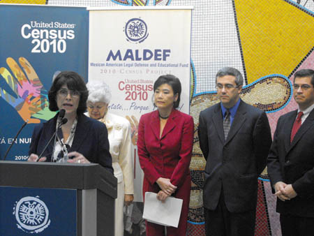 Congresswoman Lucille Roybal-Allard, Congresswoman Grace Napolitano, Congresswoman Judy Chu, and Congressman Xavier Becerra urge for participation in the 2010 census count. (EGP Photo by Paul Aranda Jr)