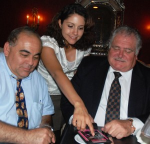 East Los Angeles College instructors, from left, Dennis Sanchez and Patty Godinez plan details with President Ernest Moreno for the upcoming East Side Spirit & Pride Scholarship Dinner June 16 at Steven's Steakhouse. Photo by Mario Villegas
