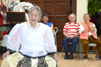 Participants finish up a cultural dance before lunch time at Silver Lake Adult Day Health Care Center.