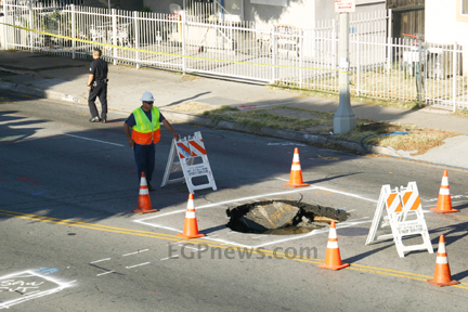 Boyle Heights Sink Hole - June 28 2013