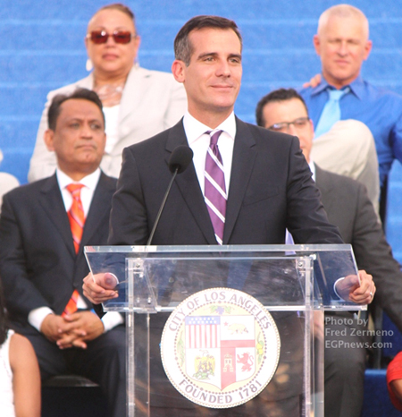 Mayor Eric Garcetti - Inaguration 2013- by Fred Zermeno