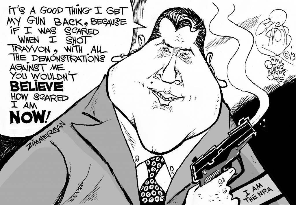 zimmerman-smoking-gun-trayvon-verdict-cartoon