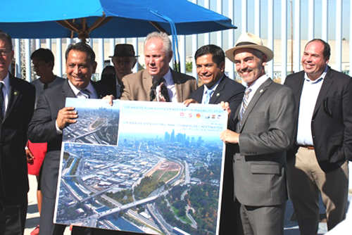 L.A. City Councilmembers rallied at the Doeny Rec. Center in Lincoln Heights prior to the vote on Monday. (City of Los Angeles)