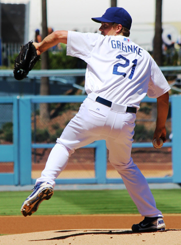The Dodgers 23 wins in August are the most in a calendar month in L.A. history. Dodger starter Zack Greinke has a record of 14-1 and an ERA of 1.23 in the month of August with 36.2 innings pitched. (EGP photo by Fred Zermeno)