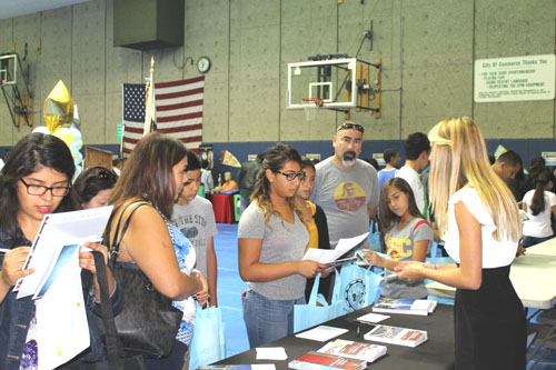 Students and their families took advantage of the City of Commerce's annual college fair to get a head start on college application season. (Gloria Angelina Castillo EGP Staff Writer)