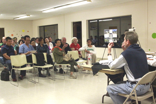 Over 50 Monterey Park residents attended a public hearing regarding a proposed dog park at Garvey Ranch Park. (EGP photo by Nancy Martinez)
