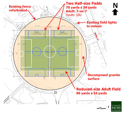 The proposed soccer fields will be built at Salt Lake Park located at 3401 E. Florence Ave. in Huntington Park. (City of Huntington Park)