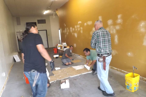 The Hook Up, in Montebello, was renovated this week after receiving a grant from the Home Depot Foundation. (Photo courtesy of Esperanza Ortega)