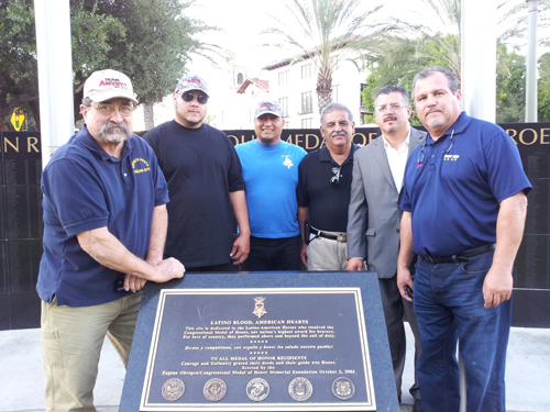 Every Sunday, a group of veterans volunteer to clean the El Pueblo Historic Monument at Father Sierra Park in Downtown L.A..  (EGP photo by Paul Aranda Jr.)