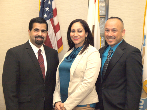 (Left to Right): Bell Gardens Mayor Daniel Crespo, Mayor Pro Tem Priscilla Flores and Councilmember Jose Mendoza were sworn into office Dec. 5. (City of Bell Gardens)