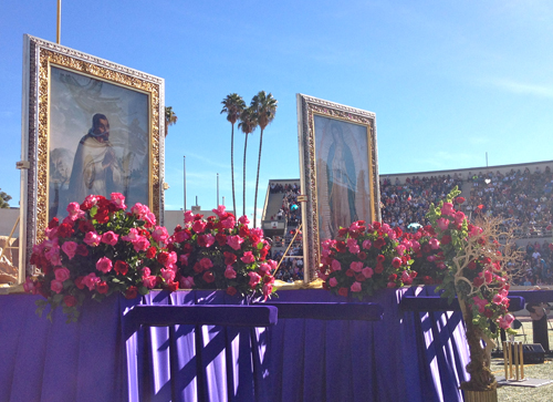 "The 82nd procession of the ""Pilgrim Virgin"" culminated with a mass at ELAC stadium. (EGP photo by Jacqueline Garcia)"