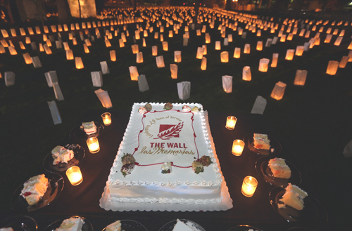 The Wall-Las Memorias celebrated its 20th anniversary hosting 'Noche de Las Memorias', an event in Lincoln Heights dedicated to remembering those waho died due to AIDS. (Emilio Flores)