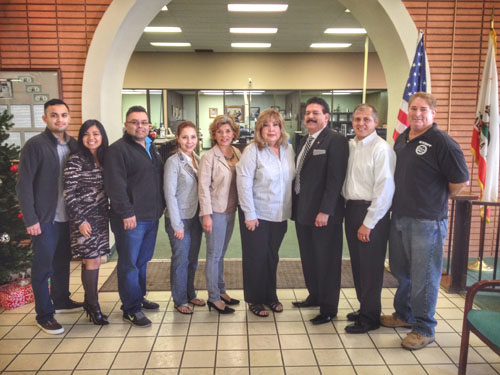Left to right:  East LA Chamber Board members Javier Guillen, Raquel Zamora, Raul Luis, Yvonne Chavez, Blanca Espinoza, Michele Arce, Jose Barajas, Jesse Torres, and Eddie Torres.  (East LA Chamber)