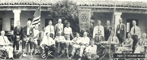 Members from The Montebello Rotary Club pictured, pose for a photo in 1931. (Montebello Rotary Club)