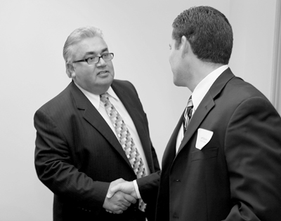 Ron Calderon, left, was indicted Thursday on  federal corruption charges. (EGP Archive)