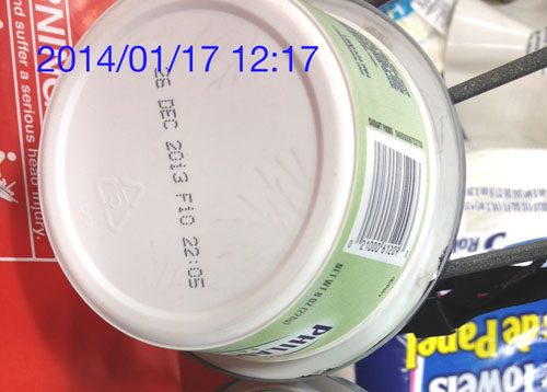 Consumer advocacy groups surveyed 30 El Super Market stores where they found out-of-code food products including cream cheese, pictured,  nearly one month past the expiration date.  (Mike Shimpock)