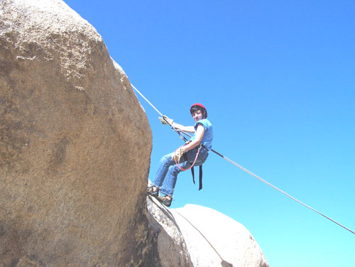 Eagle Scout Alek Sanchez, pictured rock climbing at Joshua Tree during one of his boy scouts field trips in 2011. (Photo Courtesy of Gloria Gonzalez)