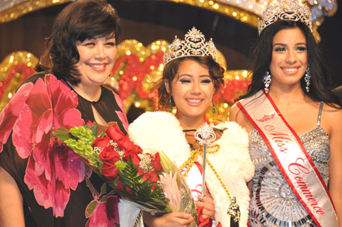 Denize Rodriguez, 20, was crowned Miss Commerce at the Commerce Hotel and Casino in front of an audience of about 350 people. (Courtesy of City of Commerce PIO)
