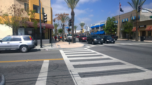 Whittier Boulevard is one of Montebello's busiest streets.  (EGP photo by Nancy Martinez)