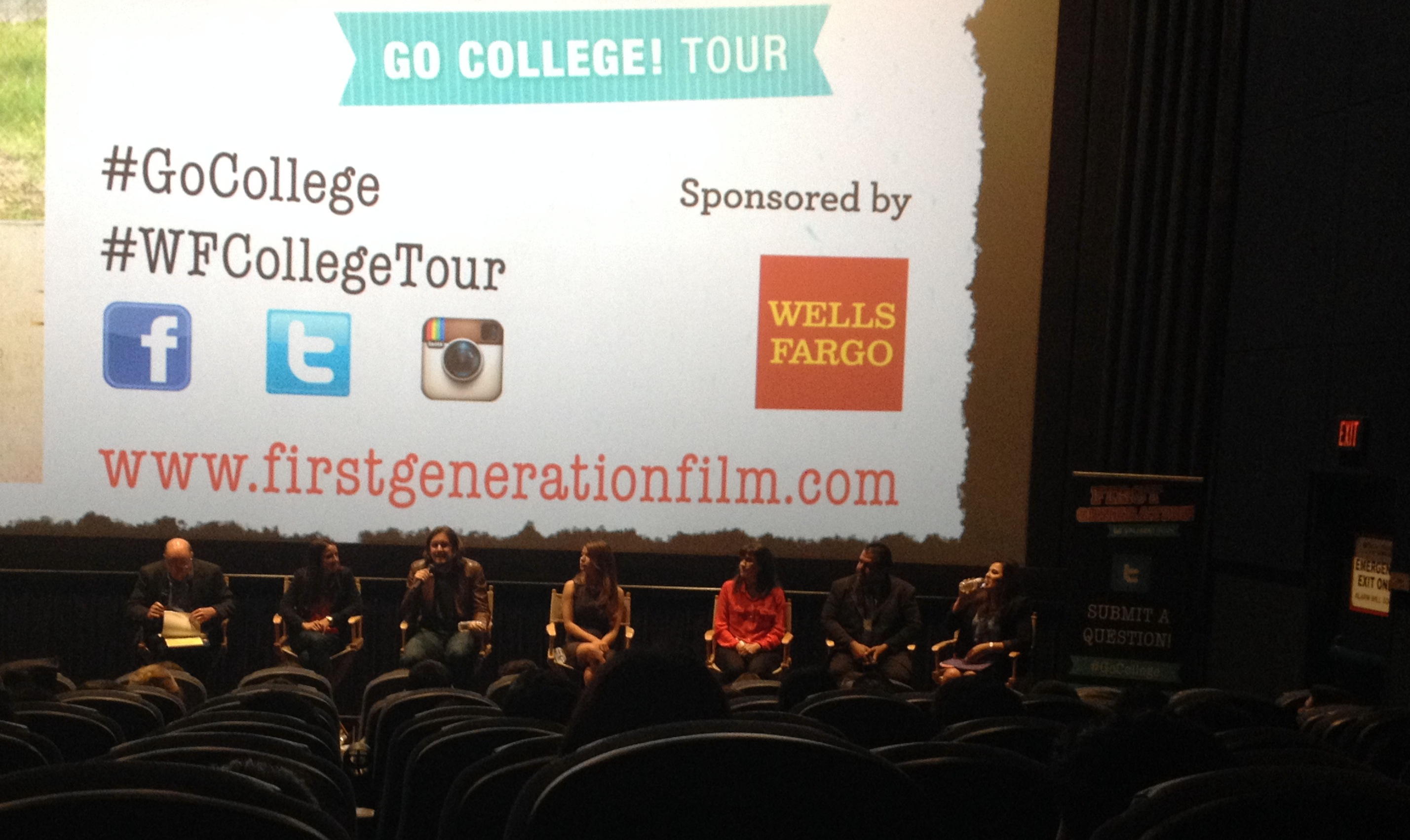 "A panel of experts and the fillmmakers of the documentary ""First Generation"" spoke to students about their options for college. (EGP photo by Jacqueline Garcia)"