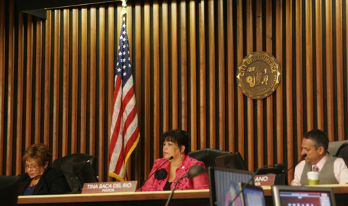 "Charging fraud, council members say they want ""justice."" (EGP photo by Ana Gonzalez)"