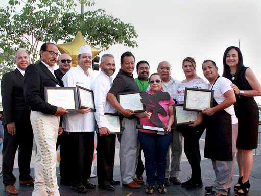 "Seven restaurant owners (pictured) were honored. during the 19th annual ""Taste of Boyle Heights.""  (Photo courtesy of East LA Community Corporation)"