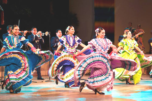 Ballet Folklórico de Los Angeles at the Ford Amphitheatre during a performance last year.  (Courtesy of Ballet Folklórico de Los Angeles )