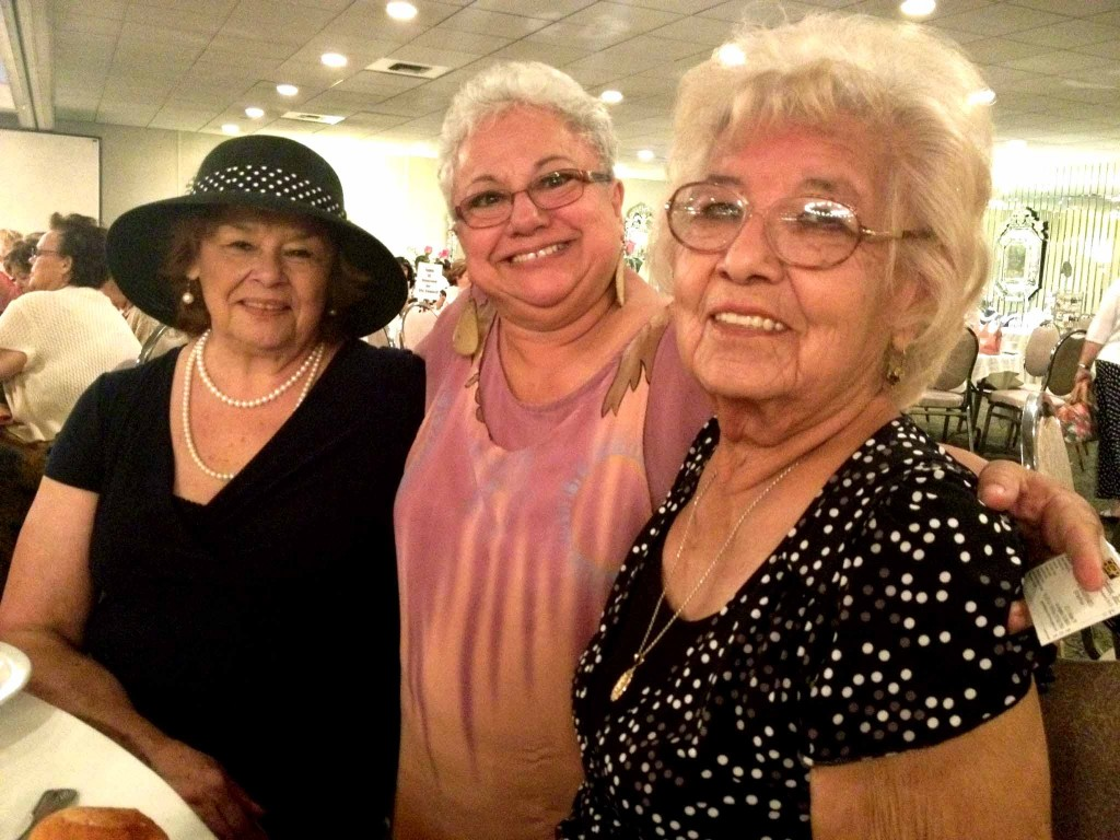 Rosewood Women's Club President Carmen Marquez poses with club members at  annual fashion show Saturday.  (EGP photo by Jacqueline Garcia)