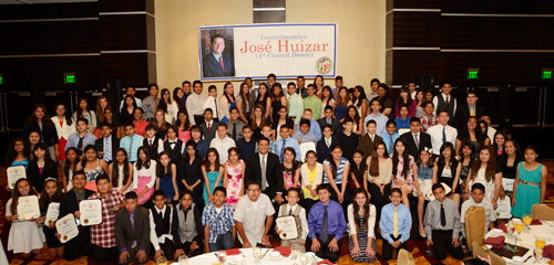 Councilman Jose Huizar hosted his 11th Annual Adelante Awards Ceremony Saturday recognizing students from his district for their academic achievement. (Courtesy of the office of Councilman Jose Huizar)