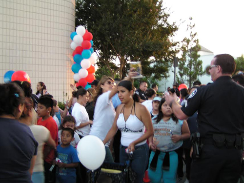 Bell Gardens residents attend one of the first national night out events held in the city. (Bell Gardens Neighborhood Watch)