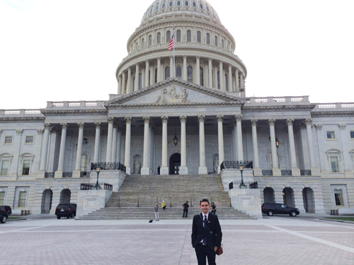 A Congressional Hispanic Caucus internship gave Alfonso Torres (pictured) access to the US seat of power where laws are made. (Courtesy of Alfoso Toro)