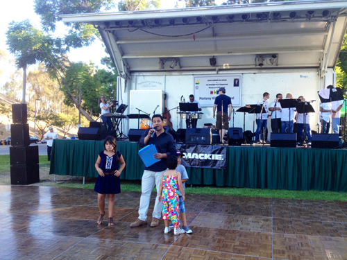 Councilmember Jose Huizar and his children Isabella, Simon and Aviana at the 17th Annual Monterey Hills Jazz Festival. (Office of L.A. Councilmember Jose Huizar)