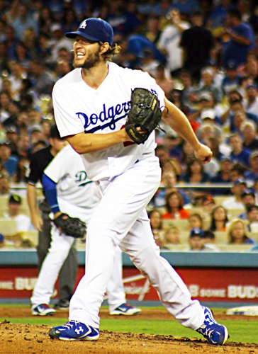 Another strikeout for Clayton Kershaw during the 8th inning against the Giants at the Ravine Sept. 24.  (EGP photo by Fred Zermeno)