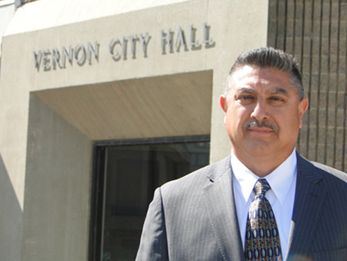 Vernon Councilmember Michael A. Ybarra, pictured when he first ran for office in 2012.(EGP photo archive)