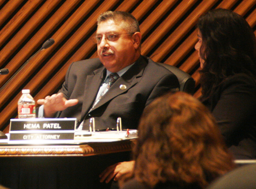 Vernon councilmember Michael A. Ybarra during a council meeting earlier this year. (EGP photo by Nancy Martinez)