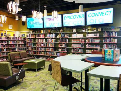 Commerce's newly renovated Rosewood Library re-opens Saturday. (EGP photo by Jacqueline Garcia)