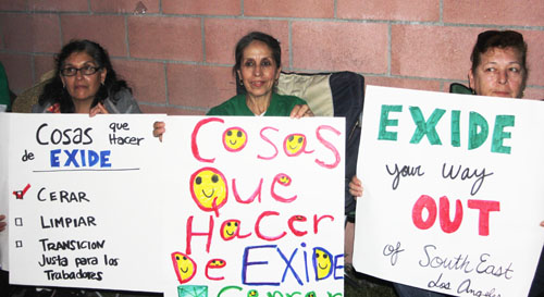 Environmental activist joined together last week in East Los Angeles to celebrate the closure of the Exide plant in Vernon. (EGP photo by Nancy Martinez)
