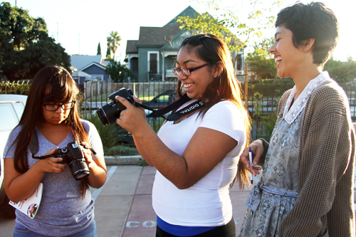Teens take photographs of their Boyle Heights neighborhood as part of the Las Fotos project class.  (Las Fotos Project)