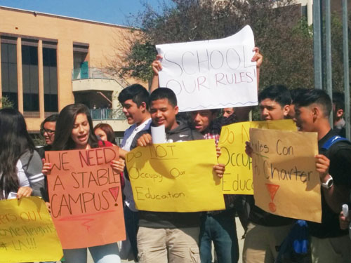 Students, parents and supporters at Roosevelt High School hope to see  a wellness center be built on their campus. (EGP photo by Jacqueline Garcia)