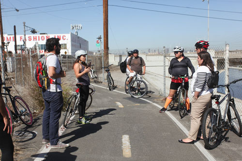 Southeast residents at bike ride in Cudahy last month. (Los Angeles County Bicycle Coalition)