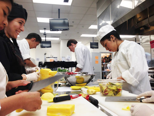 ATC students in the Culinary Hospitality Foundations Pathway have class in a state of the art kitchen.  (Courtesy of Sterling Schubert)