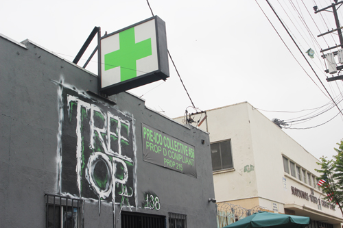 Montebello voterd may soon decide whether they want marijuna dispensaries such as the one pictured in Lincoln Heights to operate in their city.  (EGP photo by Nancy Martinez)