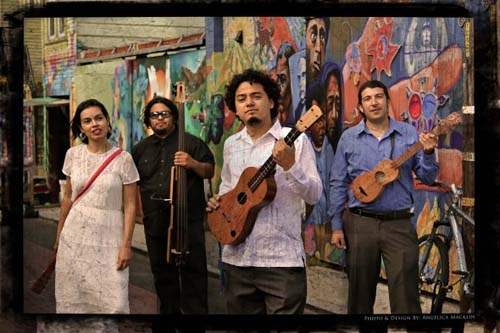 East L.A.-based Chicano-Son Jarocho group Camalanche.