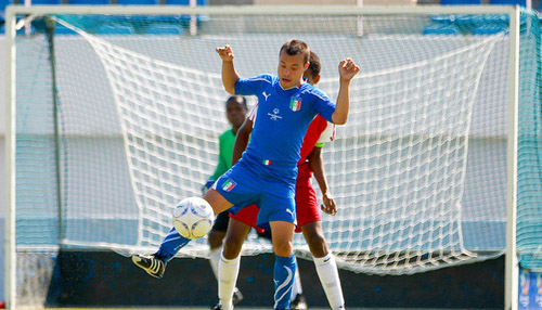 An athlete participates in a soccer game during a previous Special Olympics World Games. (Courtesy of the Special Olympics World Games 2015)