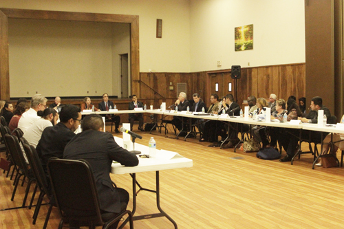 The inagural meeting of the Exide Advisory Group was held May 28 at Resurrection Church in Boyle Heights.  (EGP Photo by Nancy Martinez)