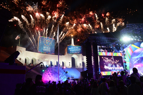 Opening Ceremonies for the 2015 Special Olympics World Games July 25 at the Los Angeles Memorial Coliseum, a landmark that has served as a kickoff location for the 1932 and 1984 Summer Olympics.  (Photos by Special Olympics World Games 2015)