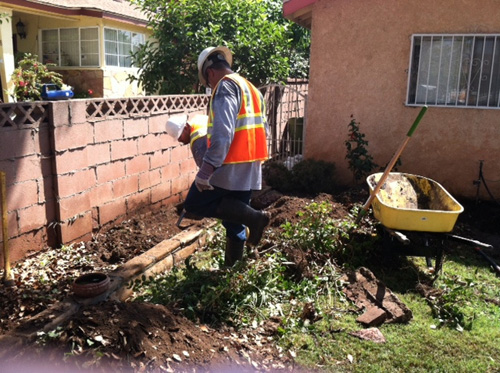 DTSC workers clean a Boyle Heights home. (DTSC)