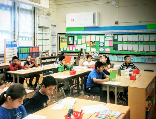 Over 500 students at Murchison Street Elementary School enjoy cleaner air, thanks to a new filtration system installed on the Boyle Heights campus over the summer. (EGP Photo by Jacqueline Garcia)