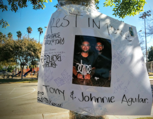 Brothers Antonio Aguilar (left) and Juan (aka Johnny) Aguilar were killed on Sunday morning. (EGP photo by Jacqueline Garcia)